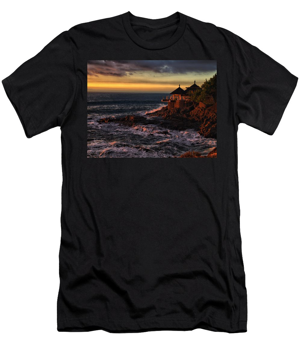 Spain Men's T-Shirt (Athletic Fit) featuring the photograph Sunset Hdr by Jouko Lehto