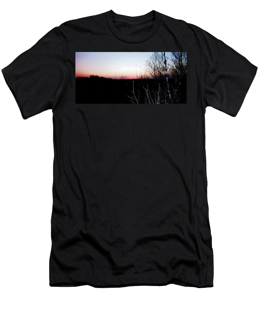 Sunset Men's T-Shirt (Athletic Fit) featuring the photograph Sunset In Door County by April Patterson