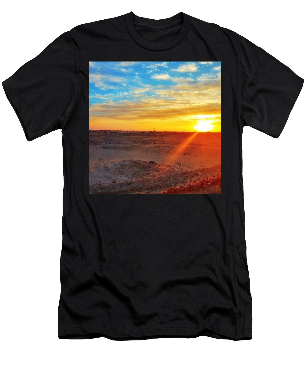 Sunset T-Shirt featuring the photograph Sunset in Egypt by Usman Idrees