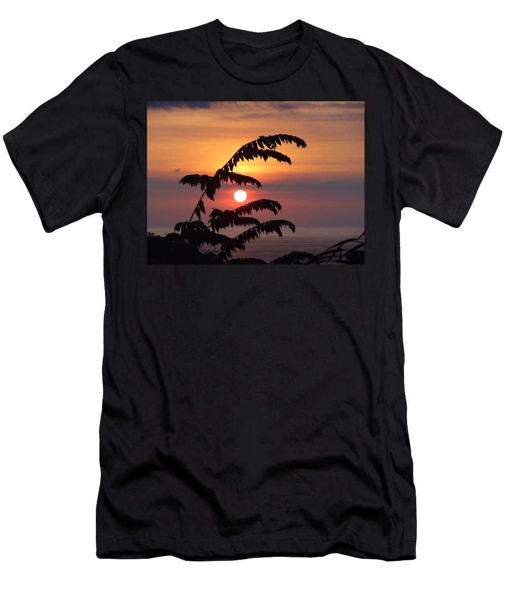 Landscape Men's T-Shirt (Athletic Fit) featuring the photograph Sunset In Paradise by Michelle Huston