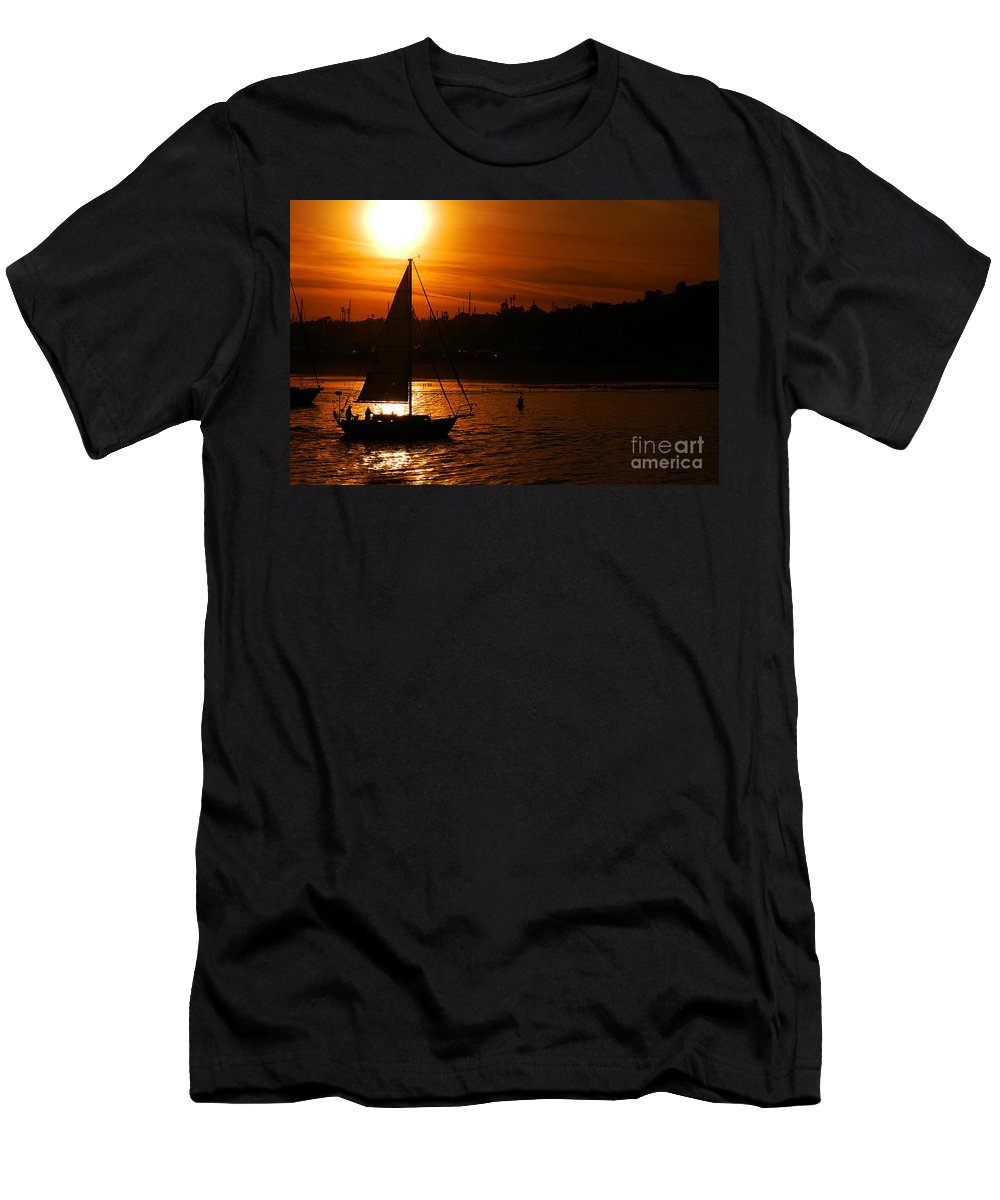 Clay Men's T-Shirt (Athletic Fit) featuring the photograph Sunset In Southern California by Clayton Bruster