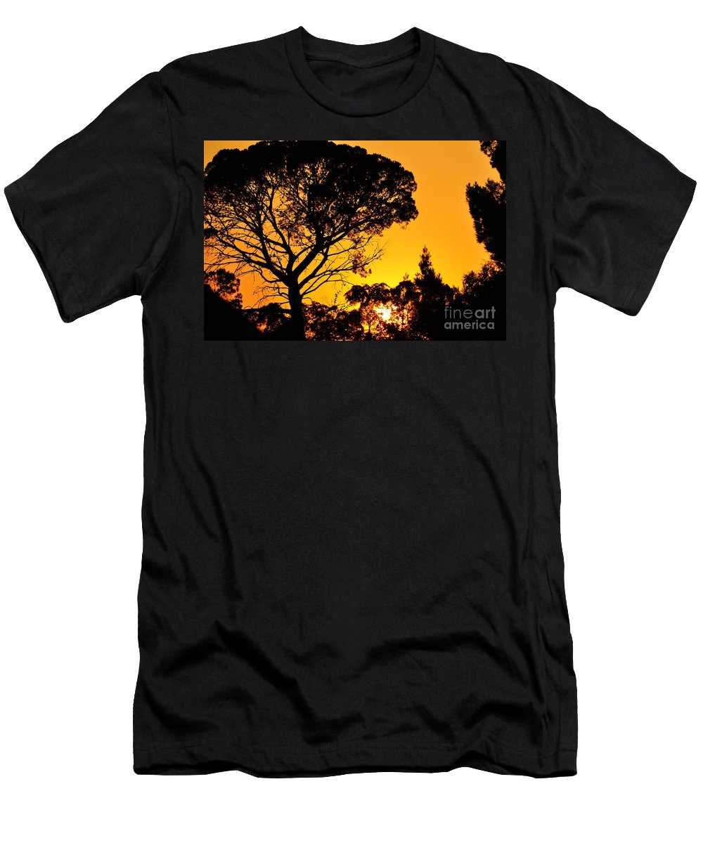 Clay Men's T-Shirt (Athletic Fit) featuring the photograph Sunset In Tujunga by Clayton Bruster