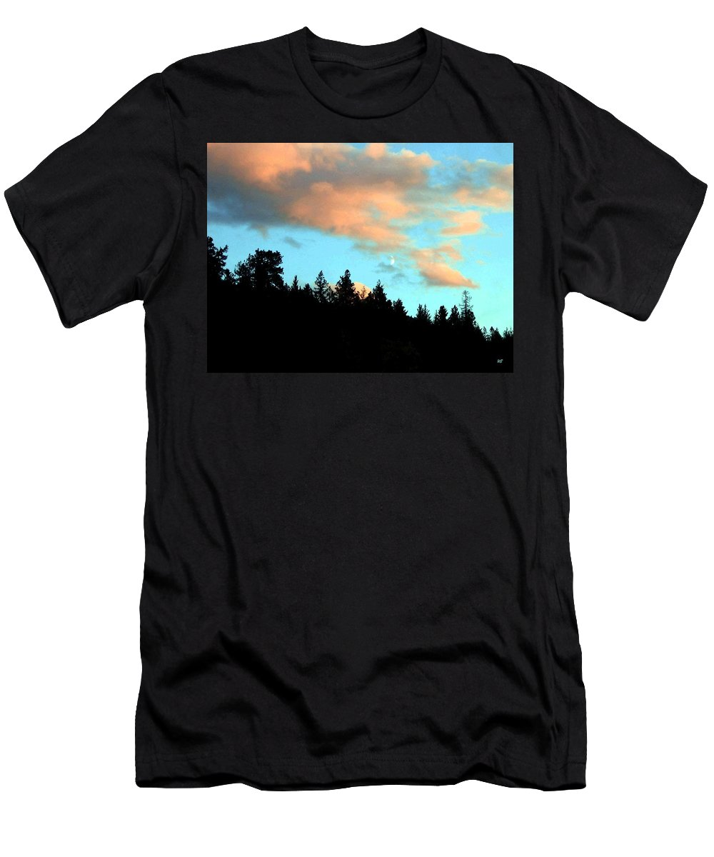 Sunset Men's T-Shirt (Athletic Fit) featuring the photograph Sunset Moon by Will Borden