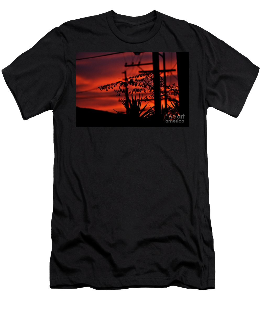 Clay Men's T-Shirt (Athletic Fit) featuring the photograph Sunset On Socal Suburb by Clayton Bruster
