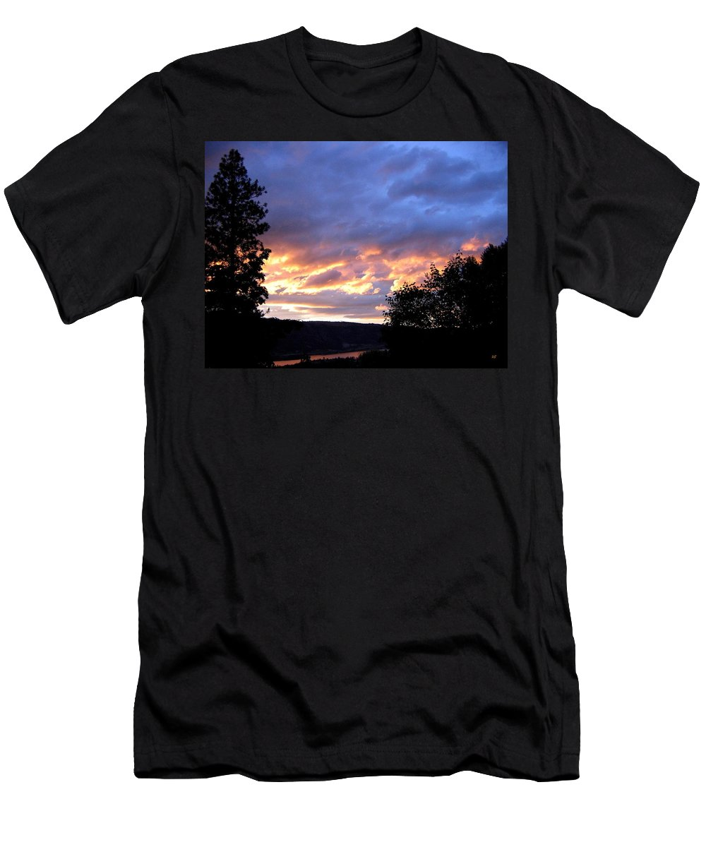 Sunset Men's T-Shirt (Athletic Fit) featuring the photograph Sunset Over Kalamalka by Will Borden