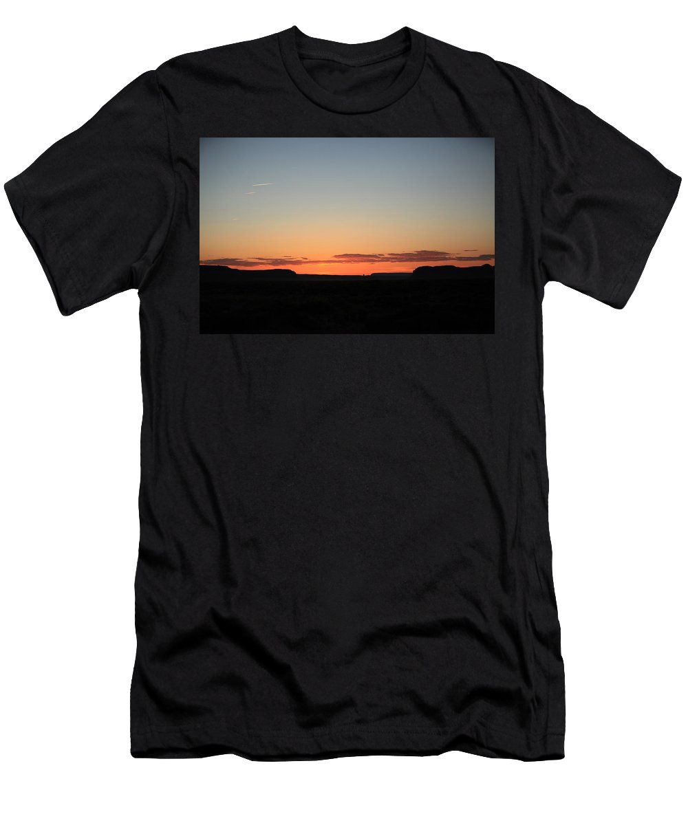 Monument Valley Men's T-Shirt (Athletic Fit) featuring the photograph Sunset Over Monument Valley by Warren Still