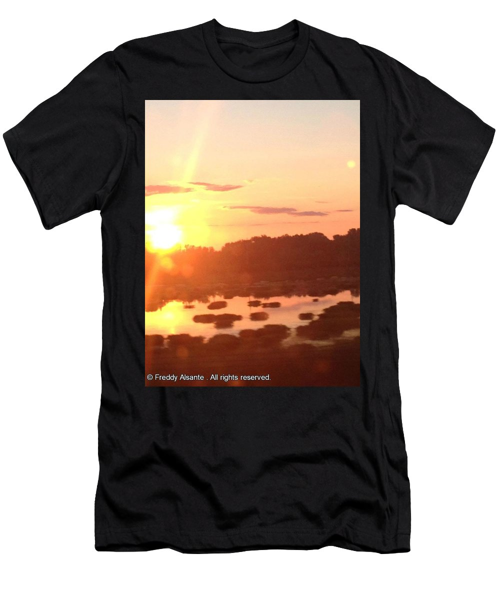 Men's T-Shirt (Athletic Fit) featuring the photograph Bright Sunset by Freddy Alsante