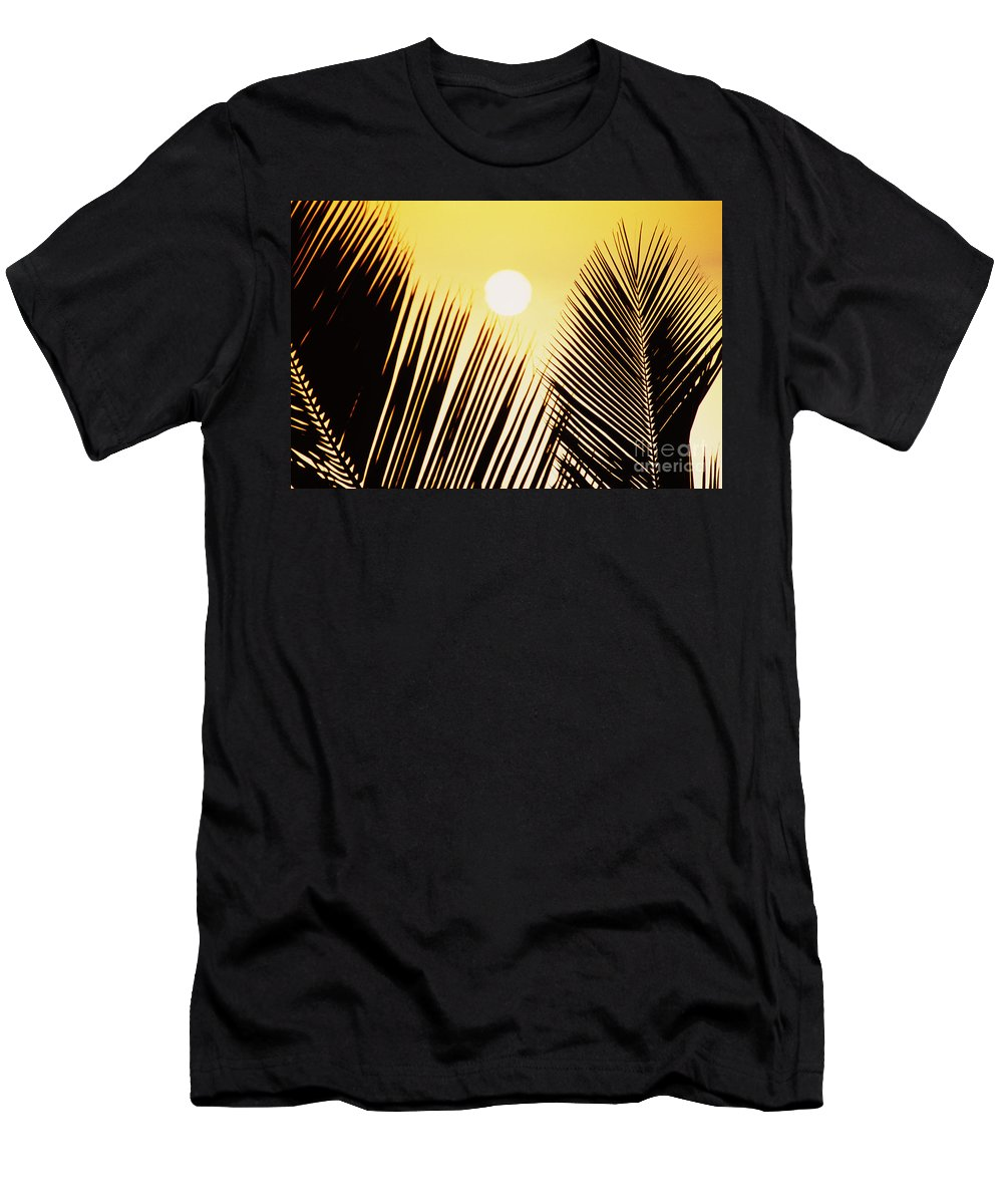 Beautiful Men's T-Shirt (Athletic Fit) featuring the photograph Sunset Palm Fronds by Joe Carini - Printscapes