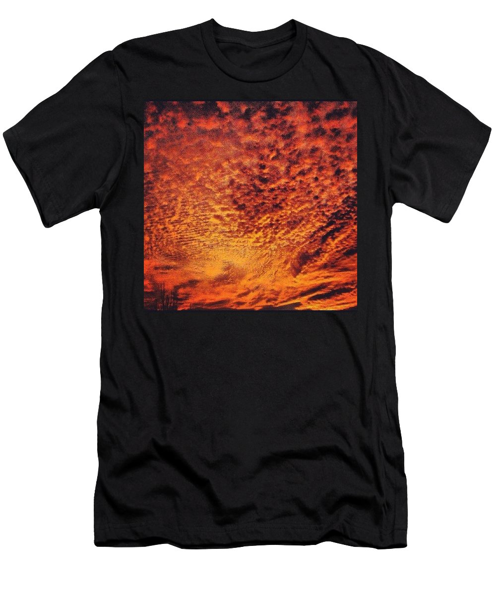Men's T-Shirt (Athletic Fit) featuring the photograph Sunset by Richard Brooke