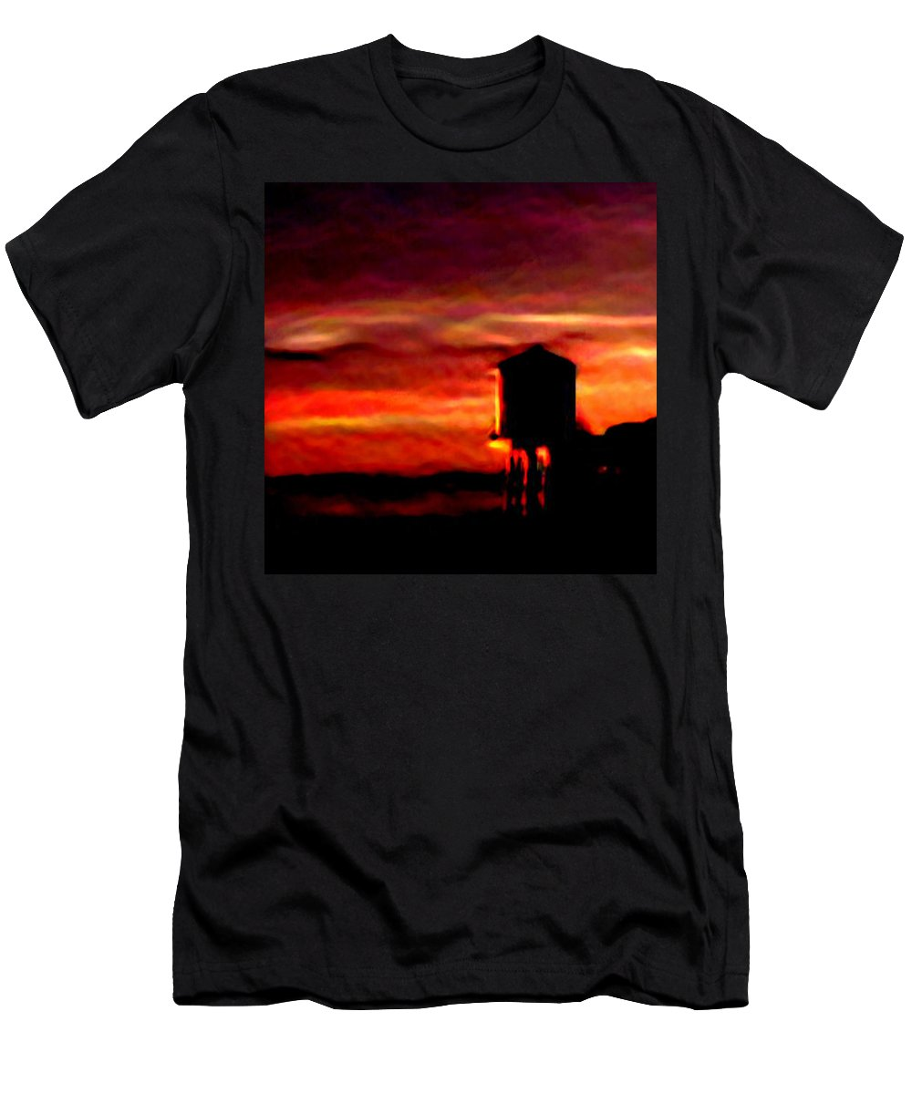 Sunsets Men's T-Shirt (Athletic Fit) featuring the photograph Sunset Se by Brenda L Spencer