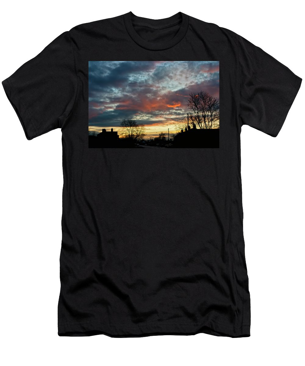 Sunset Men's T-Shirt (Athletic Fit) featuring the photograph Sunset Street by Vicki Field