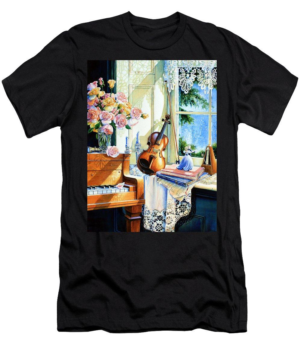 Sunshine And Happy Times Men's T-Shirt (Athletic Fit) featuring the painting Sunshine And Happy Times by Hanne Lore Koehler