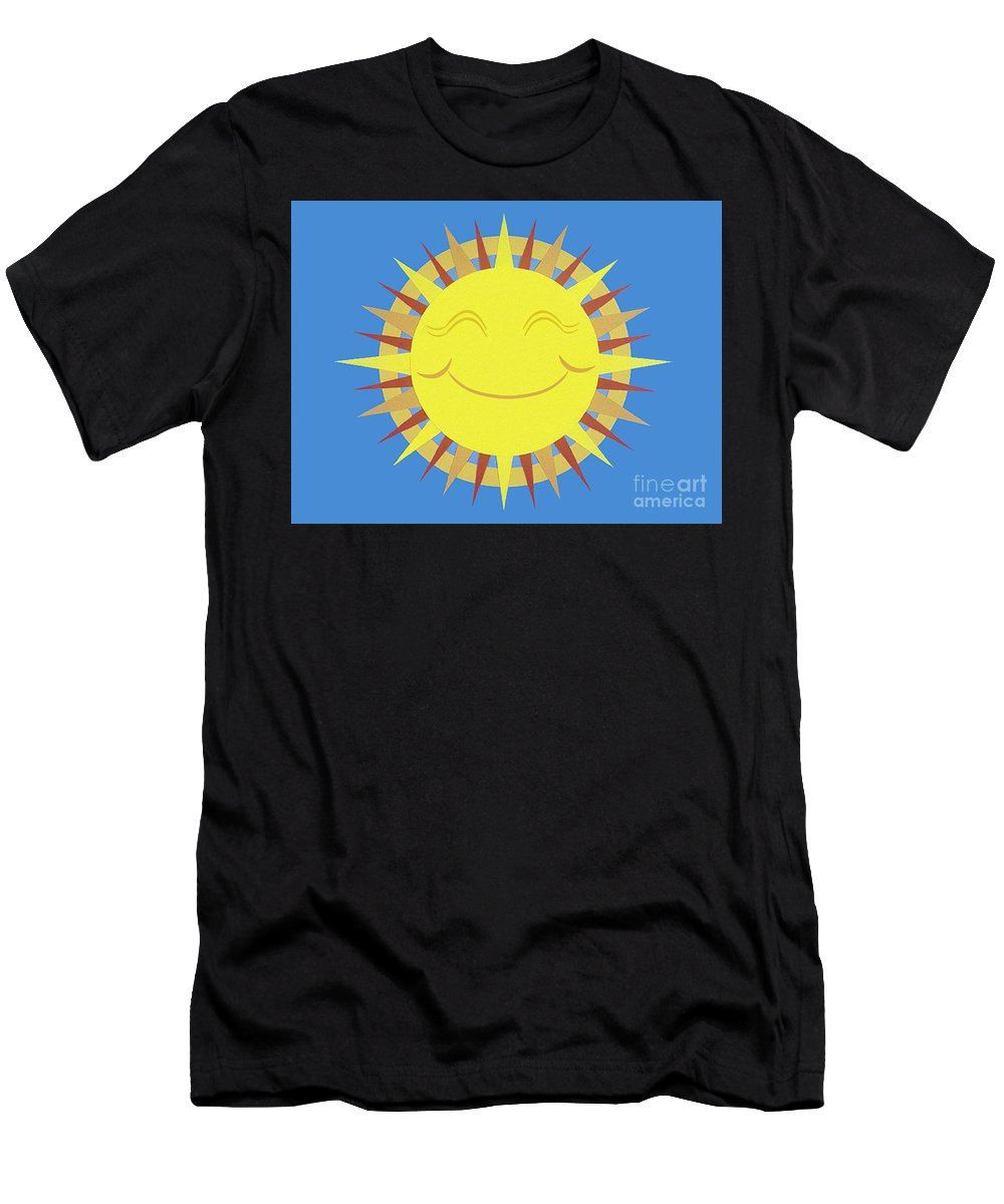 Nature Men's T-Shirt (Athletic Fit) featuring the drawing Sunshine by Lucyna A M Green