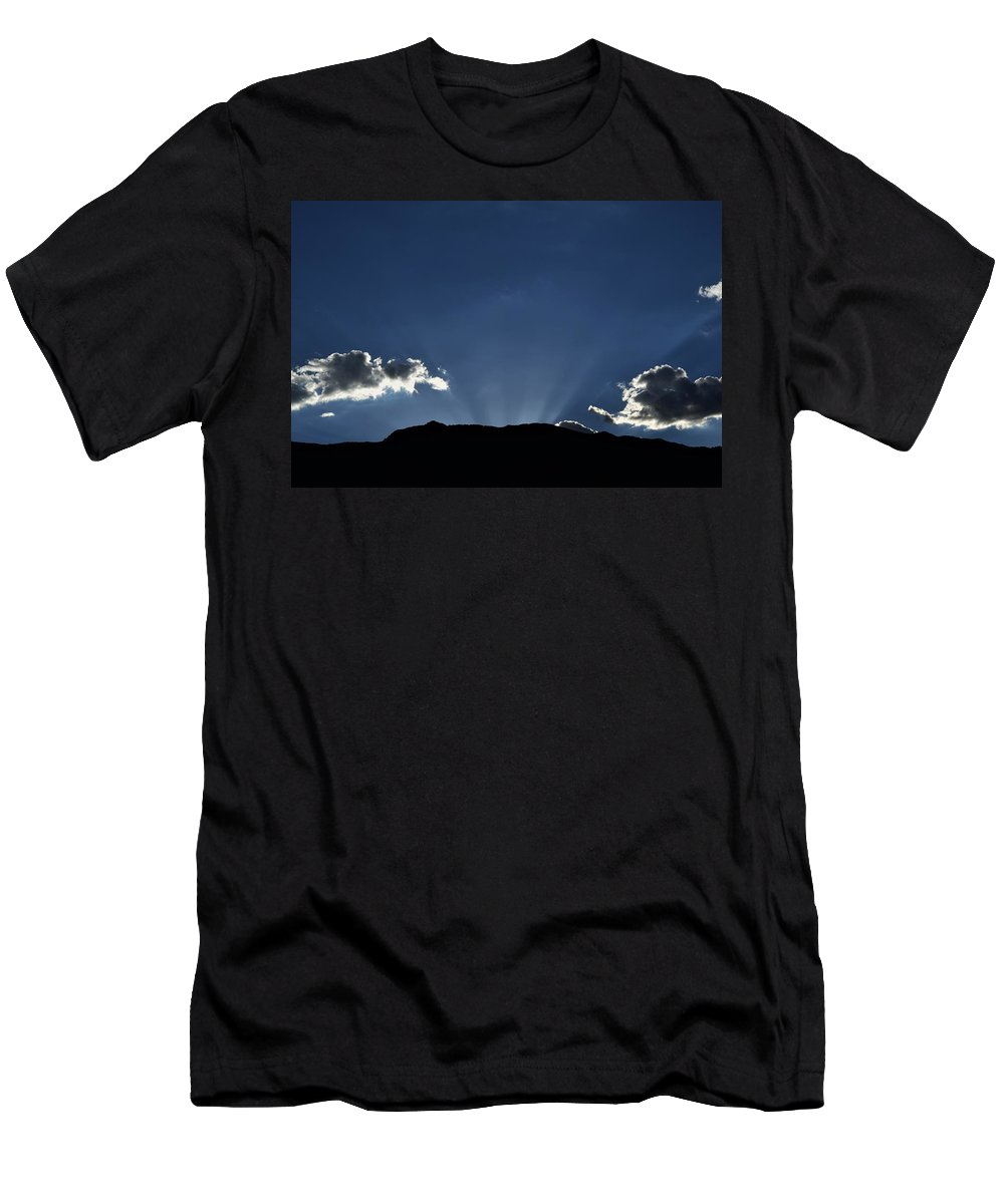 Sunrise Men's T-Shirt (Athletic Fit) featuring the photograph Sunshine On My Shoulder by John Glass