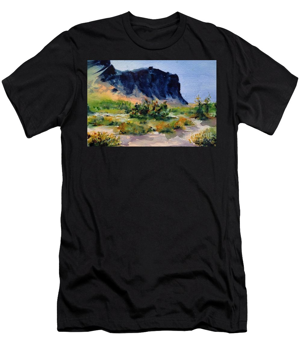 Men's T-Shirt (Athletic Fit) featuring the painting Supperstition 3 by Frank Hoeffler