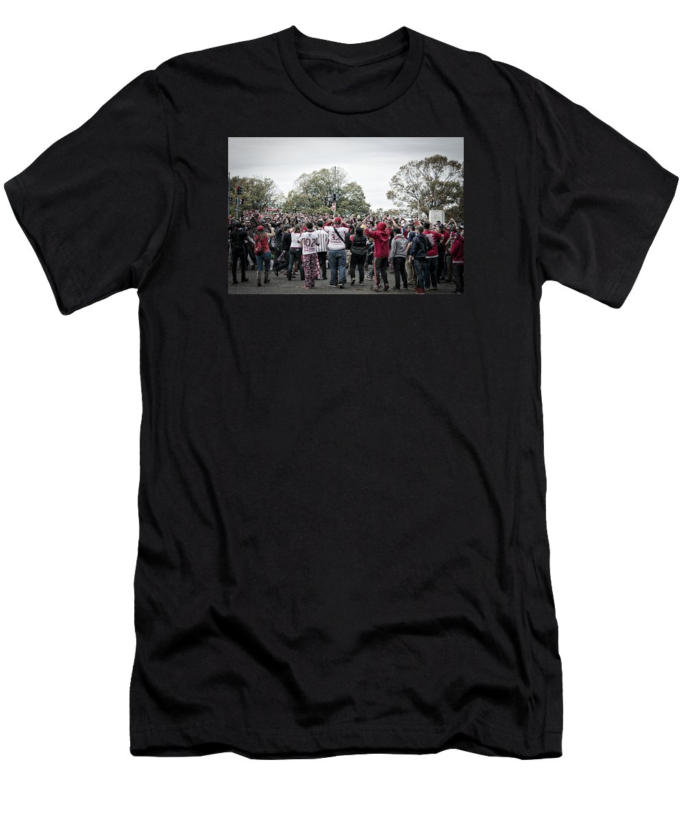 Gsu Men's T-Shirt (Athletic Fit) featuring the photograph Supporters by Juan Pena