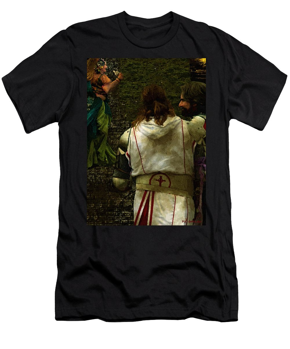 Building Men's T-Shirt (Athletic Fit) featuring the painting Surely We Can Do Better Man by RC DeWinter