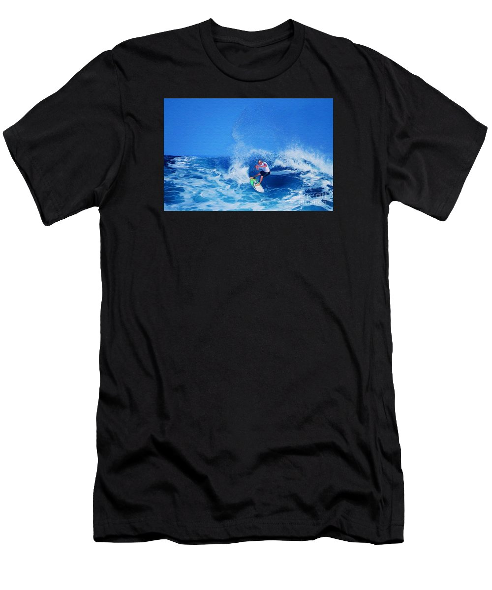 Professional-surfer-surfers Men's T-Shirt (Athletic Fit) featuring the photograph Surfer Charles Martin by Scott Cameron