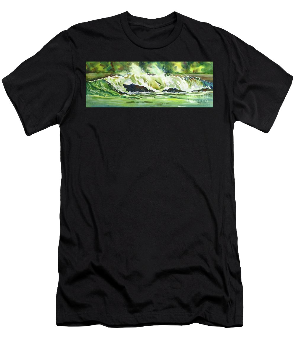 Surf Men's T-Shirt (Athletic Fit) featuring the painting Surfers Dream by Mohamed Hirji