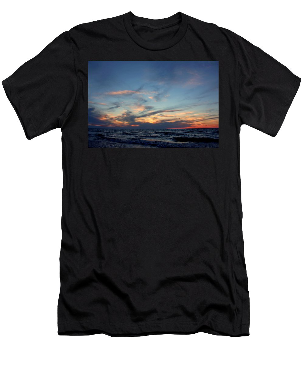 Grand Bend Men's T-Shirt (Athletic Fit) featuring the photograph Surfing The Horizon by John Scatcherd