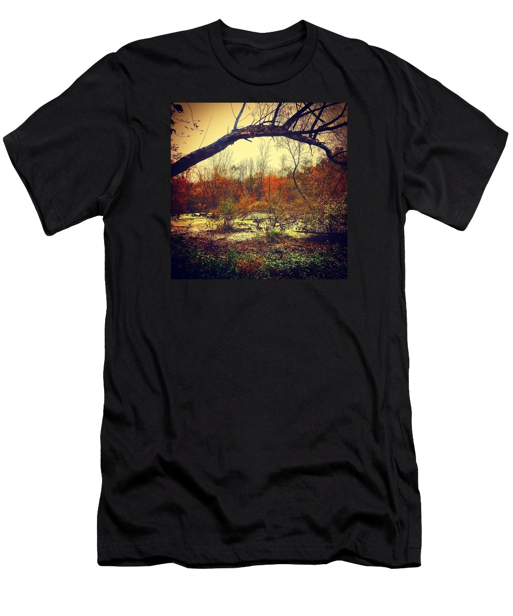 Nature Men's T-Shirt (Athletic Fit) featuring the photograph Swamp by Daniel Baer