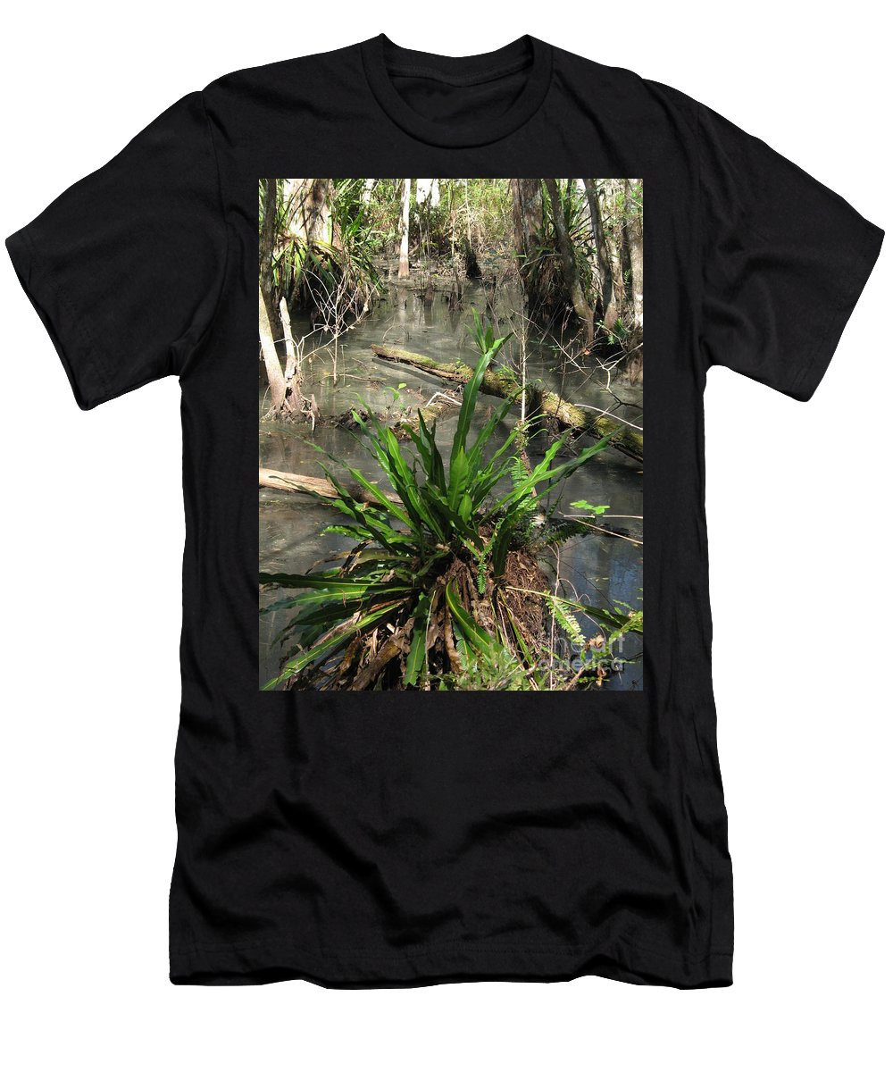Swamp Men's T-Shirt (Athletic Fit) featuring the photograph Swamp Vegetation by Christiane Schulze Art And Photography