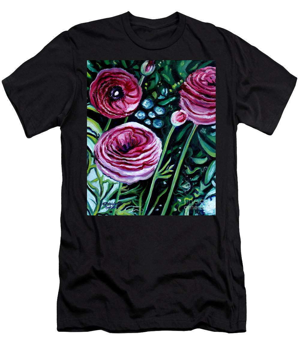 Garden Men's T-Shirt (Athletic Fit) featuring the painting Sweet Delight by Elizabeth Robinette Tyndall