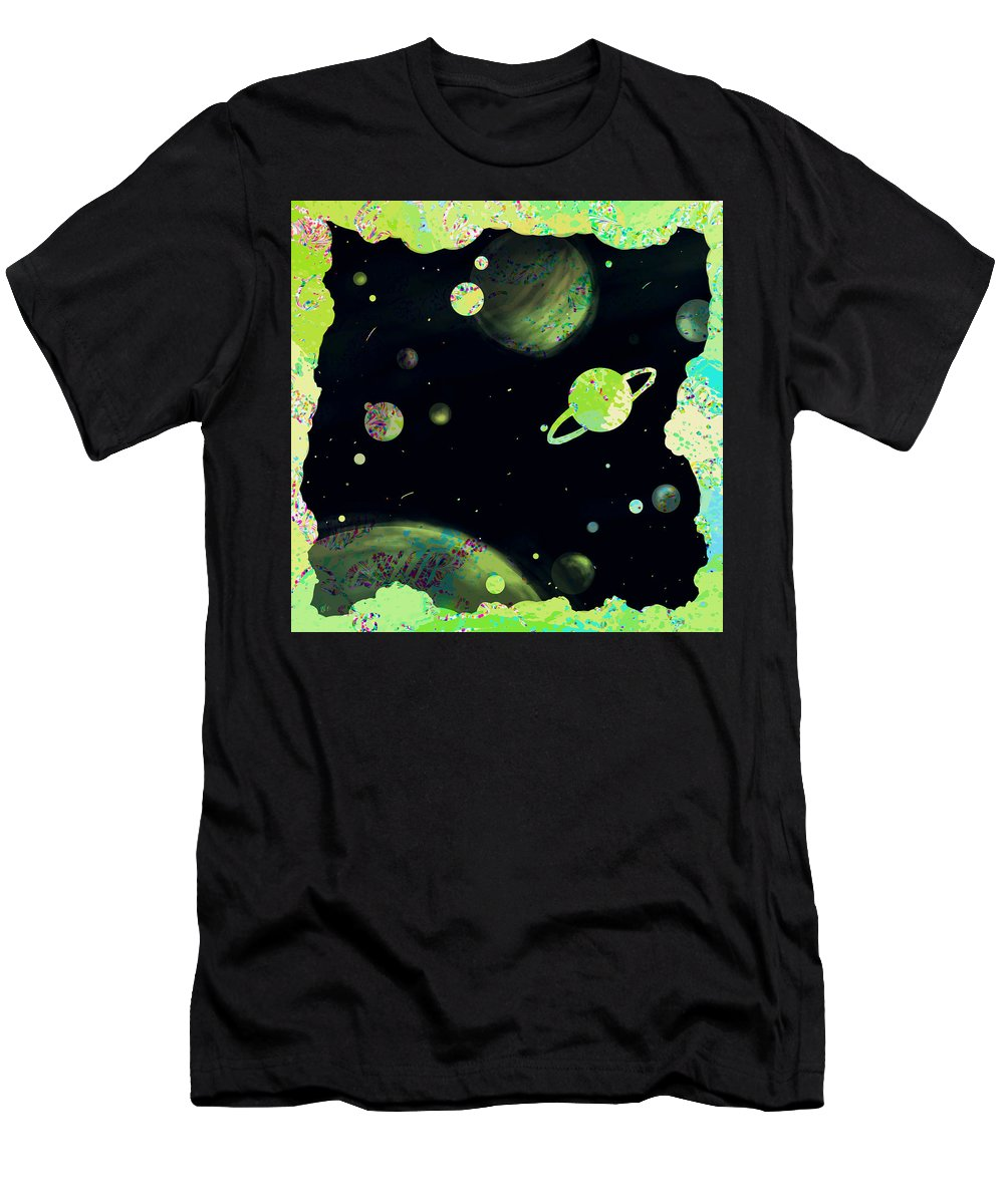 Abstract Men's T-Shirt (Athletic Fit) featuring the digital art Sweet Dreams And Starry Nights by Rachel Christine Nowicki