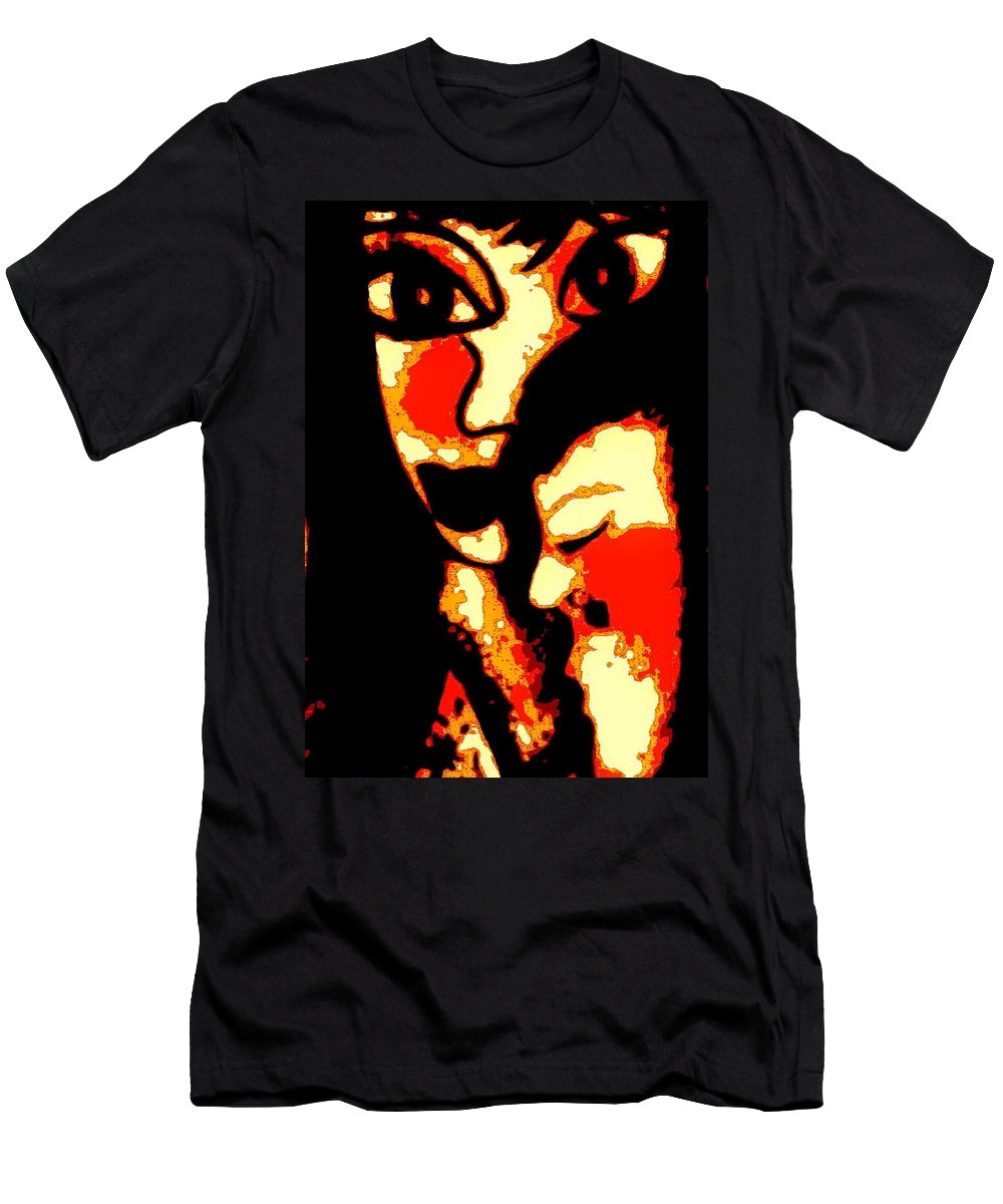 Figurative Men's T-Shirt (Athletic Fit) featuring the painting Sweet Embrace by Natalie Holland