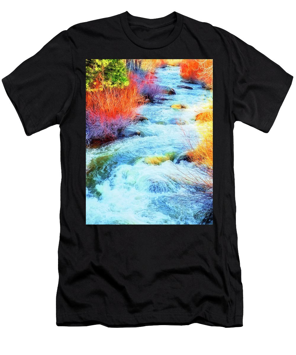 Water Men's T-Shirt (Athletic Fit) featuring the photograph Swift by Nancy Marie Ricketts