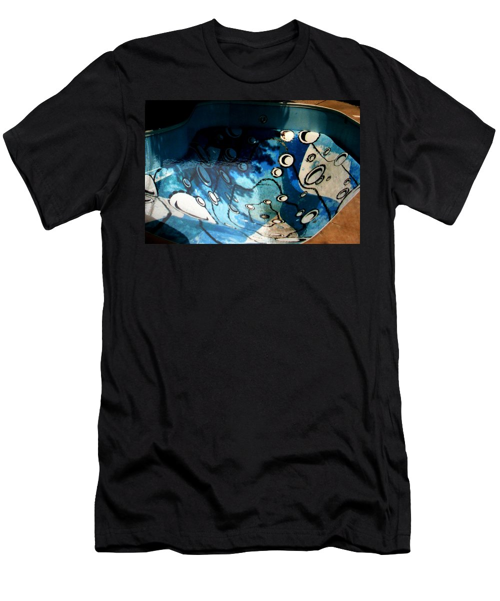 Swimming Pool Mural Men's T-Shirt (Athletic Fit) featuring the painting Swimming Pool Mural 2 by Rachel Christine Nowicki