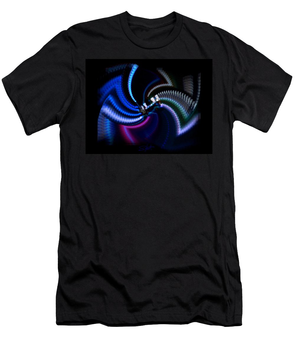 Chaos Men's T-Shirt (Athletic Fit) featuring the photograph Swirlerator by Charles Stuart