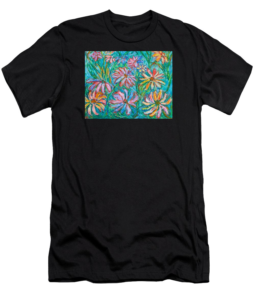 Impressionist Men's T-Shirt (Athletic Fit) featuring the painting Swirling Color by Kendall Kessler
