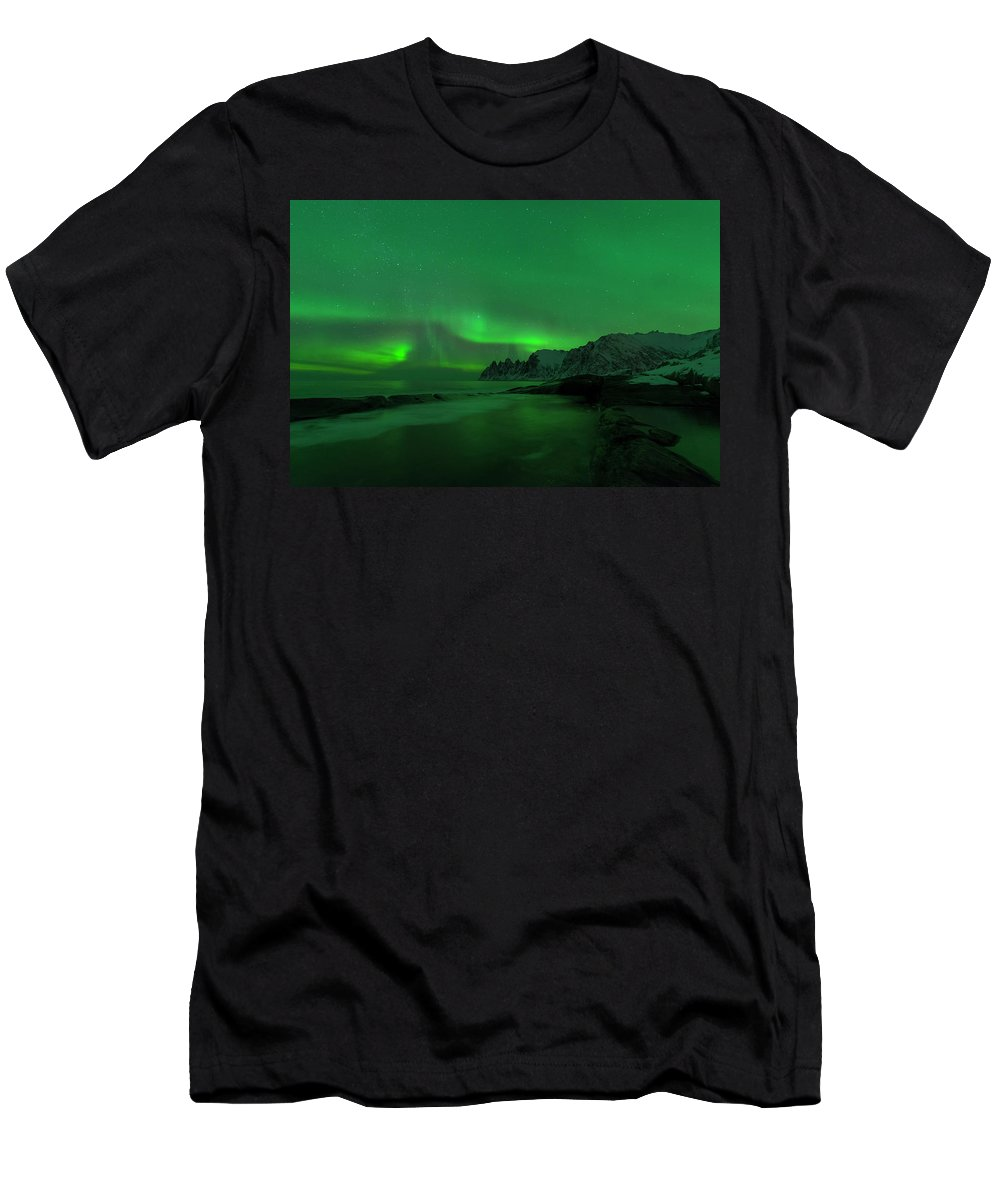 Swirl Men's T-Shirt (Athletic Fit) featuring the photograph Swirling Skies And Seas by Alex Lapidus
