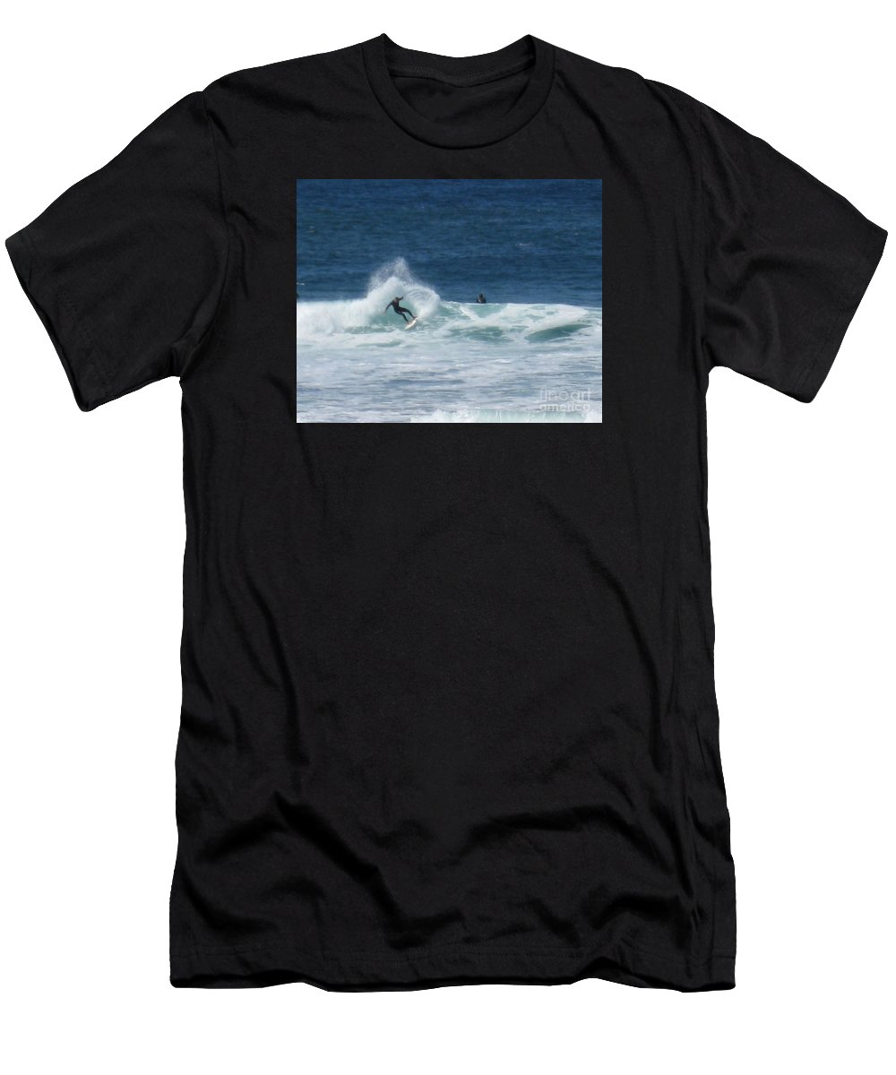 Surfer Men's T-Shirt (Athletic Fit) featuring the photograph Swish by Marta Robin Gaughen