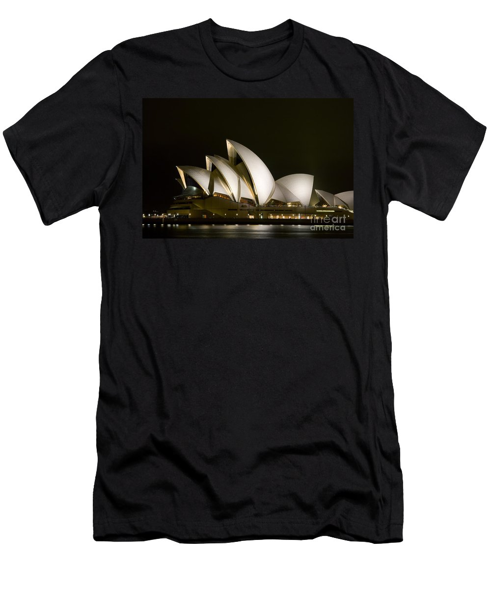 Architecture Men's T-Shirt (Athletic Fit) featuring the photograph Sydney Opera House by Dave Fleetham - Printscapes