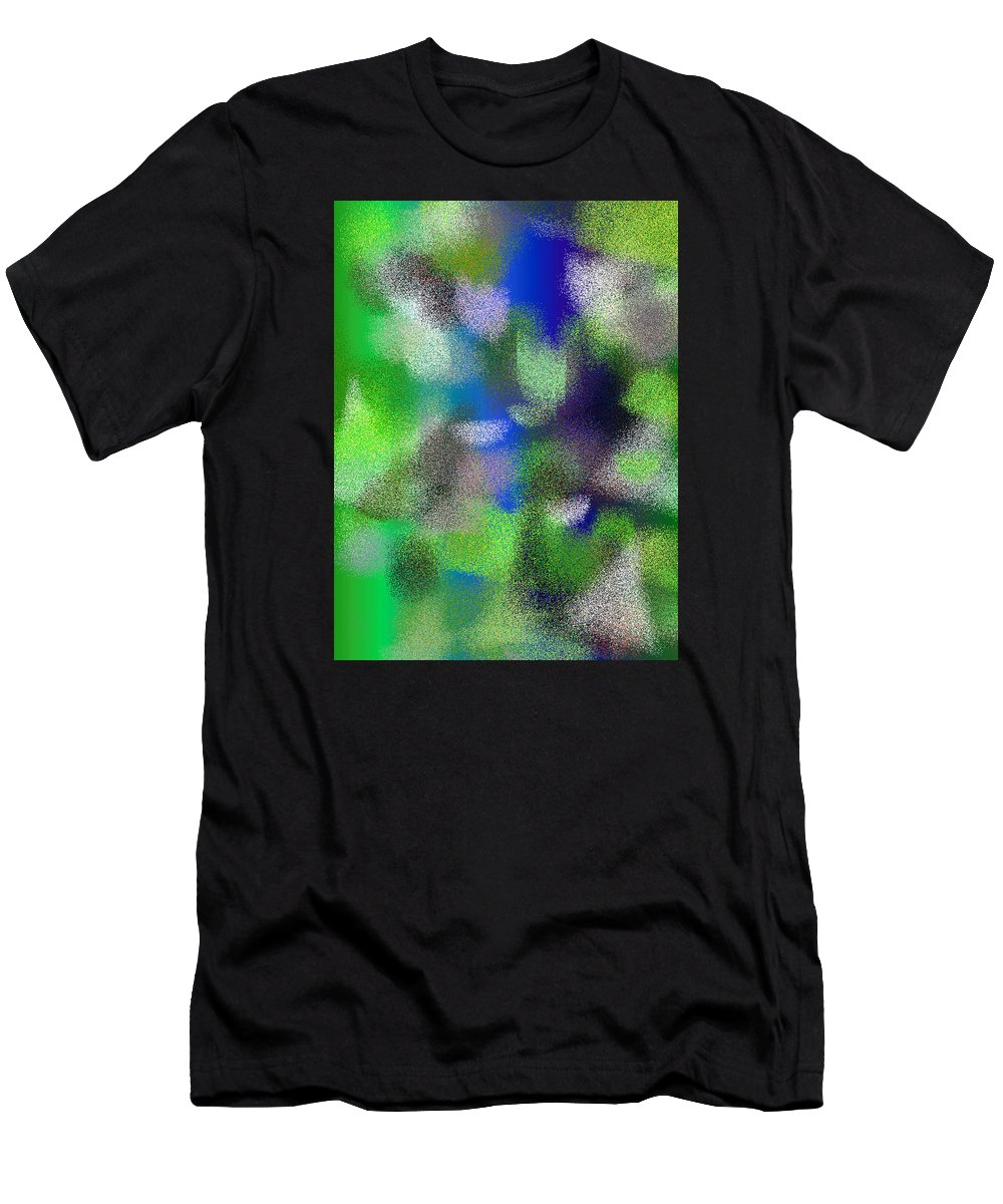 Abstract Men's T-Shirt (Athletic Fit) featuring the digital art T.1.1096.69.3x4.3840x5120 by Gareth Lewis