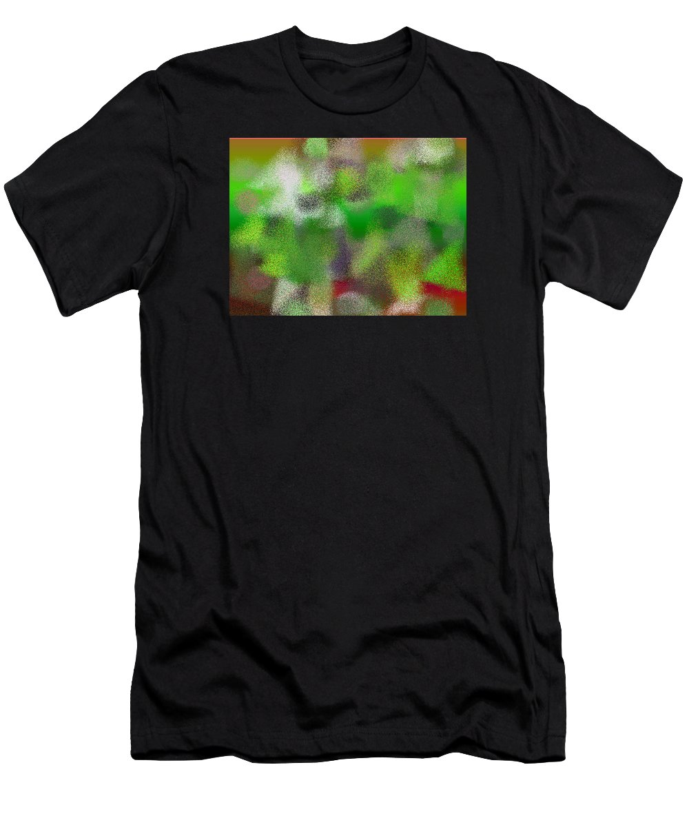 Abstract Men's T-Shirt (Athletic Fit) featuring the digital art T.1.1097.69.4x3.5120x3840 by Gareth Lewis
