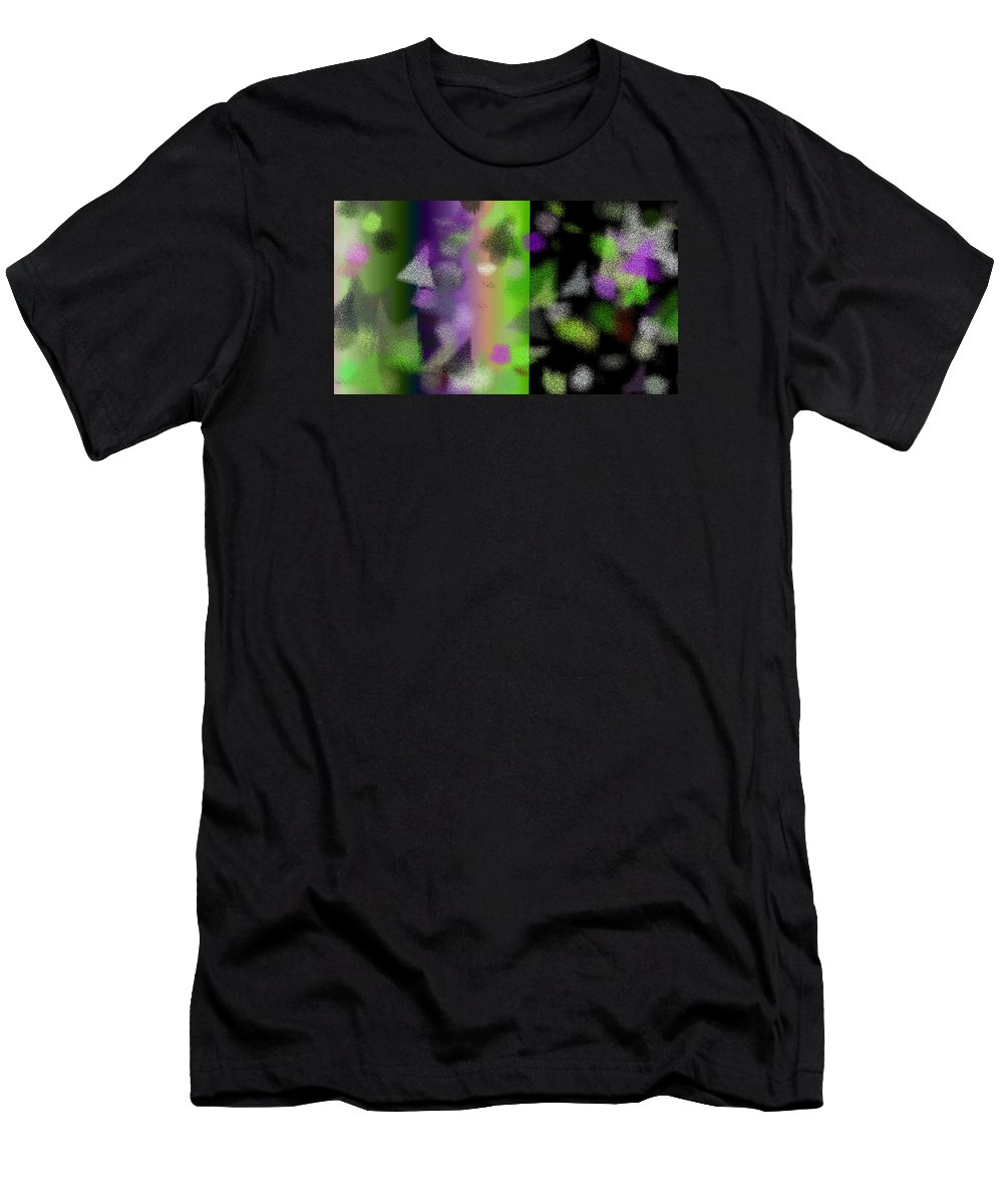 Abstract Men's T-Shirt (Athletic Fit) featuring the digital art T.1.1120.70.16x9.9102x5120 by Gareth Lewis