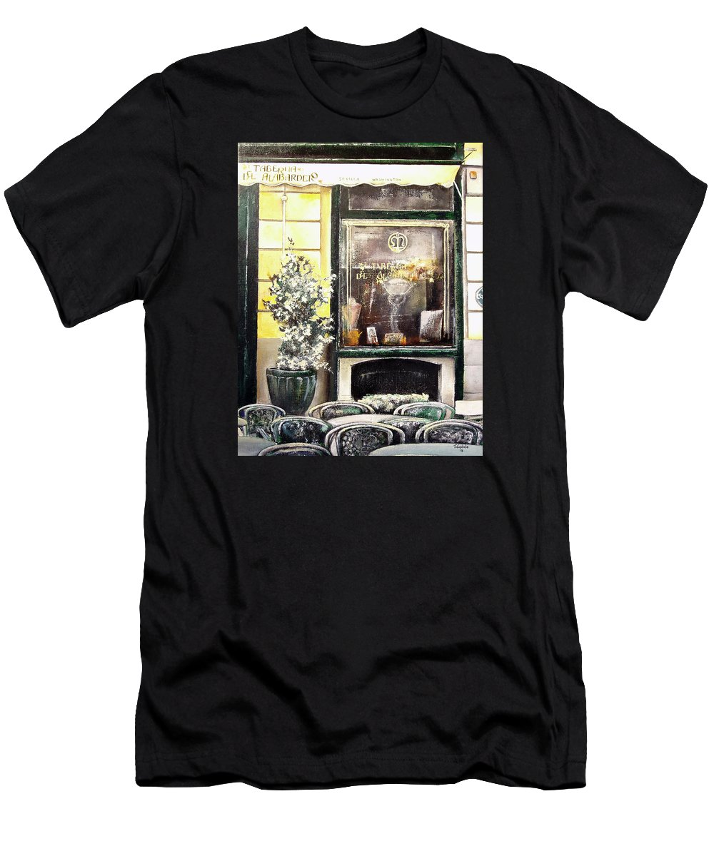 Old Men's T-Shirt (Athletic Fit) featuring the painting Taberna Del Alabardero-madrid by Tomas Castano
