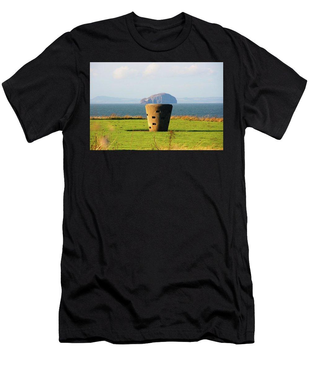Nik Watt Men's T-Shirt (Athletic Fit) featuring the photograph Table Mountain by Nik Watt