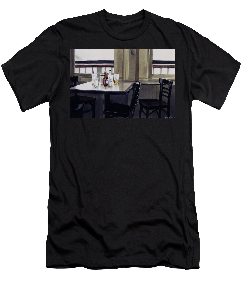 Beer Men's T-Shirt (Athletic Fit) featuring the painting Table Setting by Denny Bond