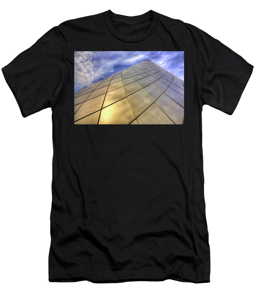 Tacoma Glass Museum Men's T-Shirt (Athletic Fit) featuring the photograph Tacoma Glass Museum by Darrel Giesbrecht