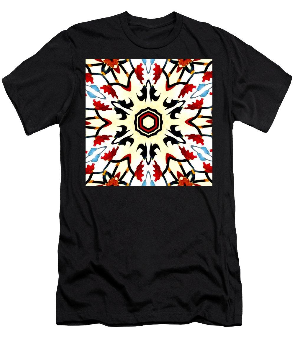 Taj Mahal Men's T-Shirt (Athletic Fit) featuring the photograph Taj Mahal Kaleidoscope by Mary Pille
