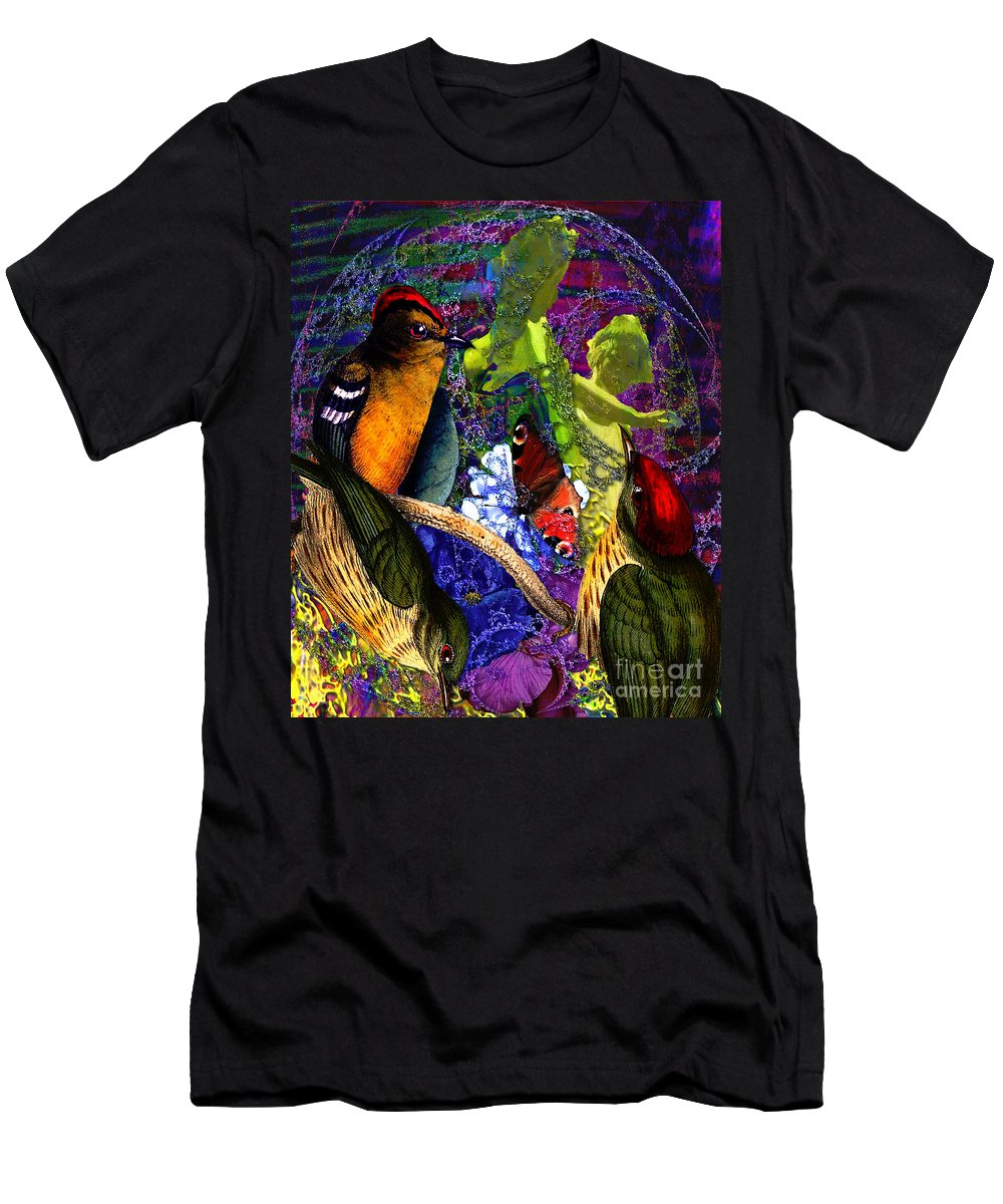 Paradise Men's T-Shirt (Athletic Fit) featuring the digital art Take My Hand, Please Alice by Joseph Mosley
