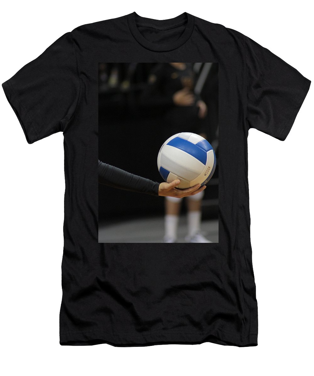 Ball Men's T-Shirt (Athletic Fit) featuring the photograph Takeoff by Laddie Halupa