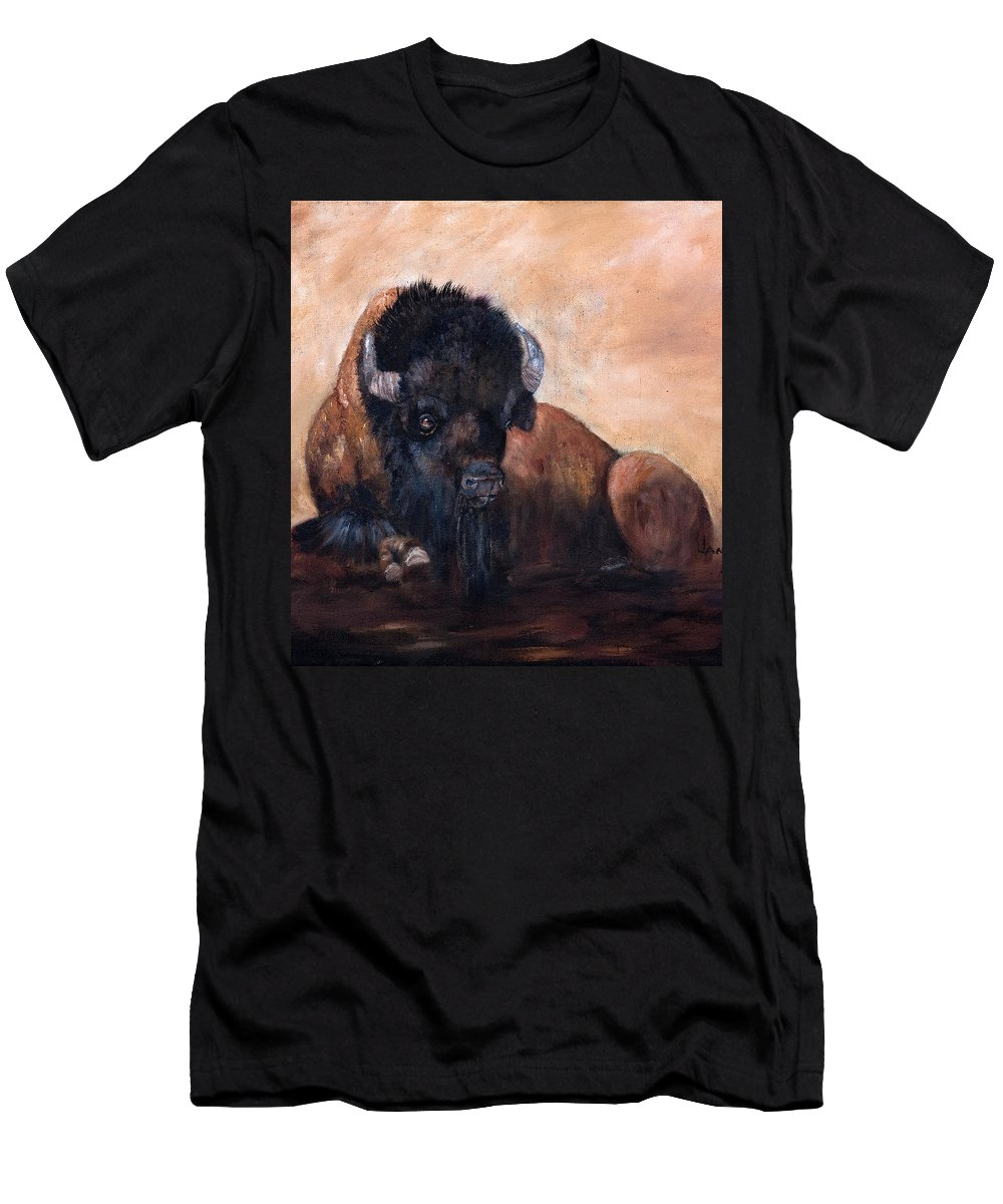 Jan Holman Art Paintings 2010 Men's T-Shirt (Athletic Fit) featuring the painting Takin' A Break by Jan Holman