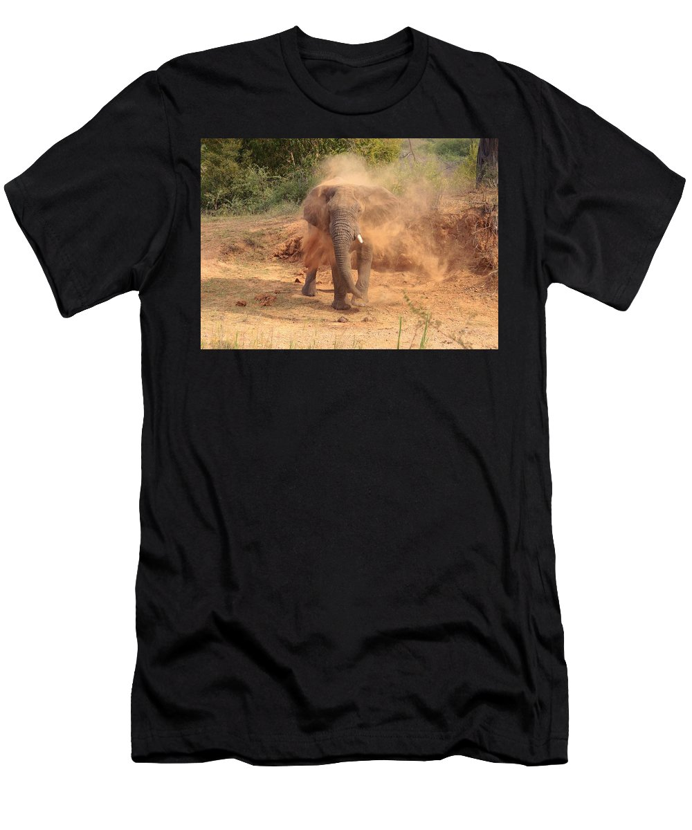 Dust Bath Men's T-Shirt (Athletic Fit) featuring the photograph Taking A Bath by Clayton Andersen