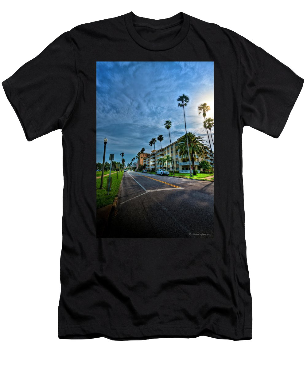 Beach Men's T-Shirt (Athletic Fit) featuring the photograph Tall Palms by Marvin Spates