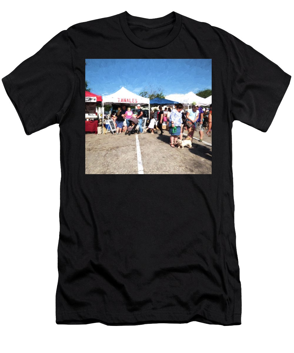 Cedar Park Men's T-Shirt (Athletic Fit) featuring the photograph Tamales For Sale by JG Thompson